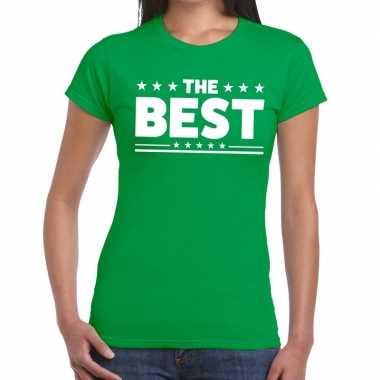 The best tekst t-shirt groen dames