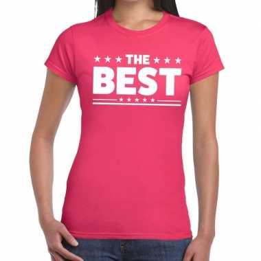The best tekst t-shirt roze dames