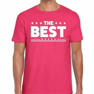 The best tekst t-shirt roze heren