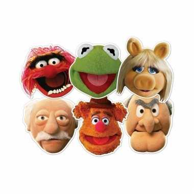 The muppets gezichtsmaskers 6 stuks