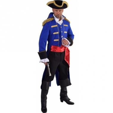 Theater blauw piraten kostuum