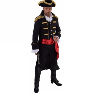 Theater zwart piraten kostuum