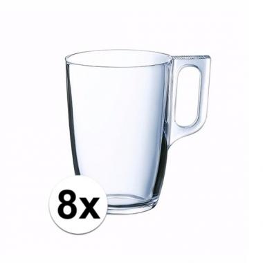 Theeglas set 8 stuks doorzichtig 32 ml