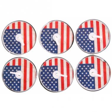 Theelichtjes amerikaanse vlag