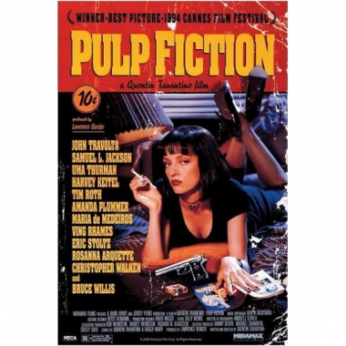 Themafeest pulp fiction poster 61 x 91,5 cm