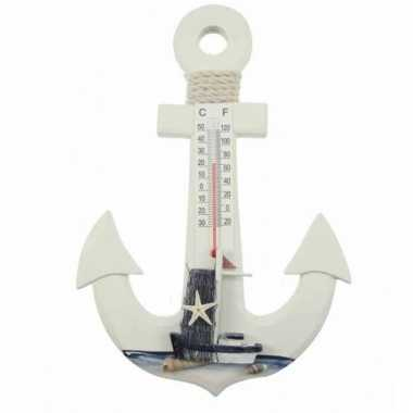 Thermometer anker maritiem 25 cm