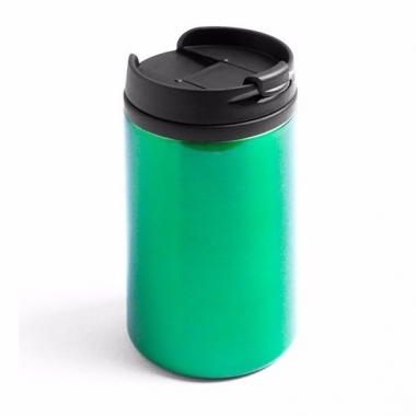Thermos autobeker metallic groen 320 ml