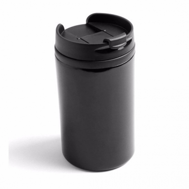 Thermos autobeker metallic zwart 320 ml