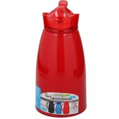 Thermoskan/isoleerkan 1 liter rood