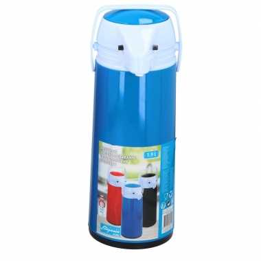 Thermoskan/isoleerkan met dispenser 1.9 liter blauw