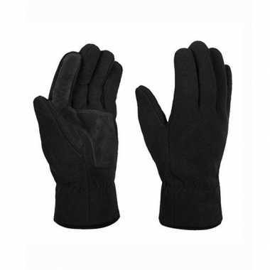 Thinsulate fleece handschoenen zwart voor volwassenen maat s/m