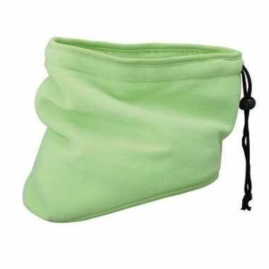 Thinsulate nekwarmers lime groen