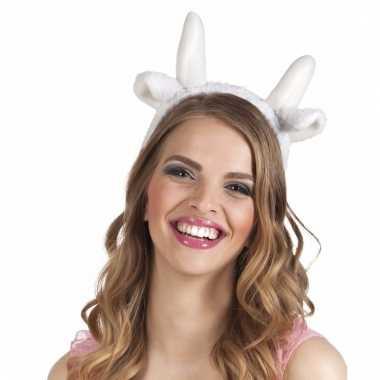 Tiara witte schapen oren voor volwassenen