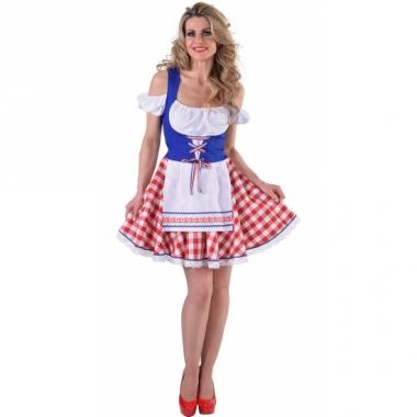 Tiroler jurkje rood/wit/blauw