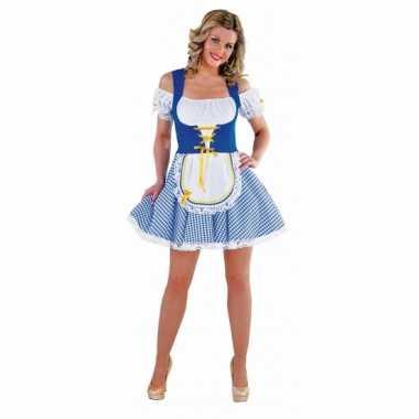 Tiroler verkleedjurkje blauw voor dames
