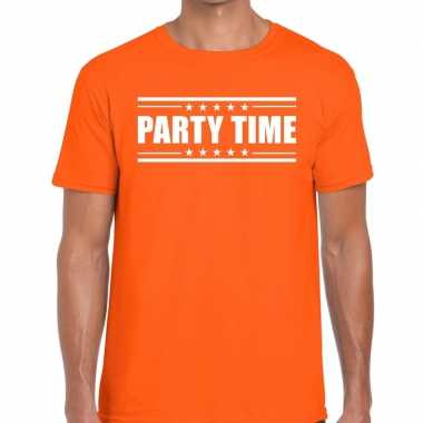 Toppers - party time t-shirt oranje heren