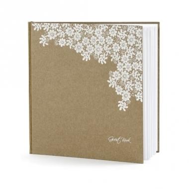 Trouwerij gastenboeken met bloemen
