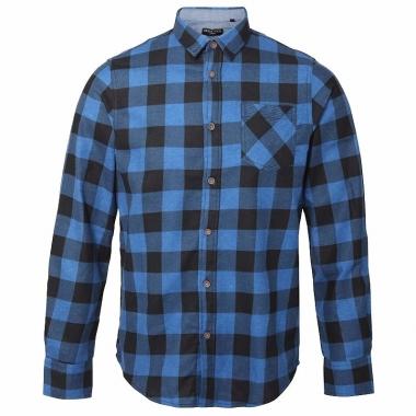 Overhemd Rood Zwart Geblokt.Trucker Overhemd Geblokt Blauw Zwart Pchoofdstraat Nl