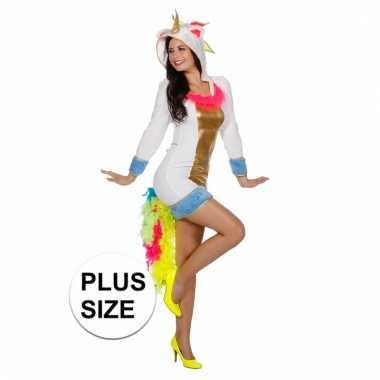 Unicorn verkleedjurk voor dames plus size