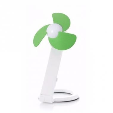 Usb labtop ventilator waaier wit/groen 22 cm