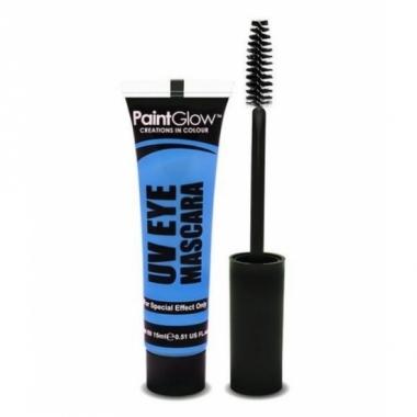 Uv make up blauwe mascara