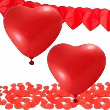 Valentijn decoratie pakket rood
