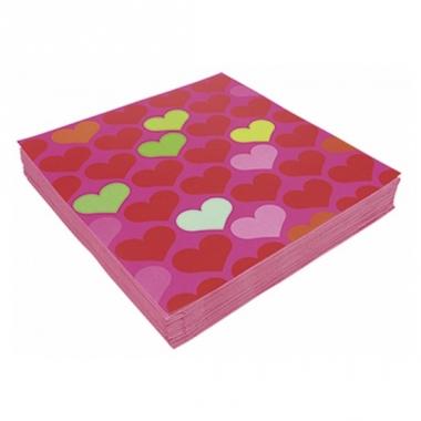 Valentijn servetten met hartjes