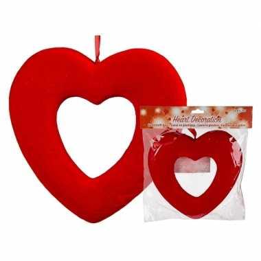 Valentijnsversiering rood hart 22 cm