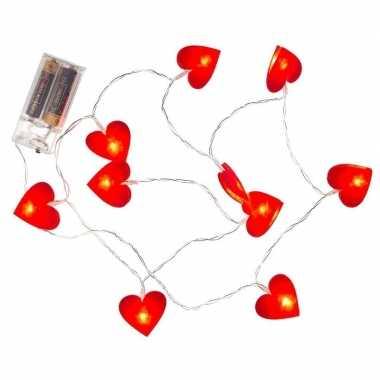 Valentijnversiering hartjes verlichting 120 cm