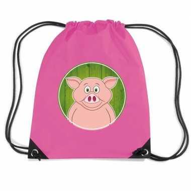 Varkens rugtas / gymtas voor kinderen