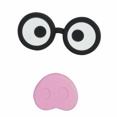 Varkensneus en bril magneten set