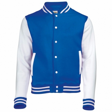 Varsity jacket blauw/wit voor dames
