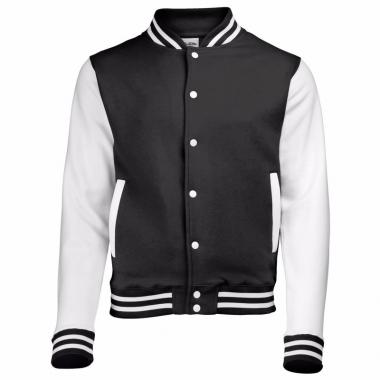 Varsity jacket zwart/wit voor dames