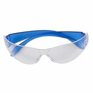 Veiligheidsbril blauw voor volwassenen