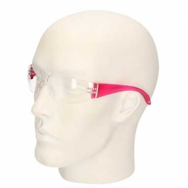 Veiligheidsbril roze voor volwassenen