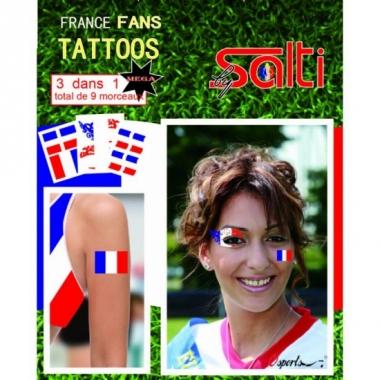 Velletje met frankrijk tattoos 9 stuks