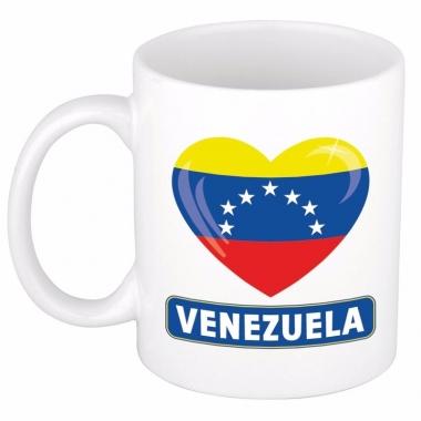 Venezolaanse vlag hart mok / beker 300 ml