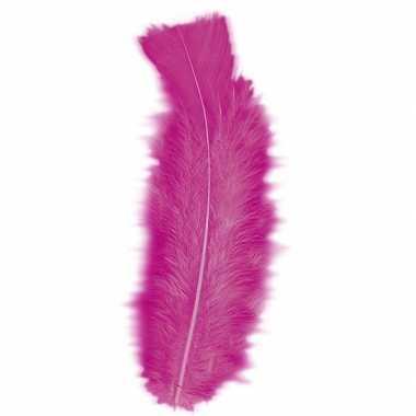 Veren kleur roze 50 stuks