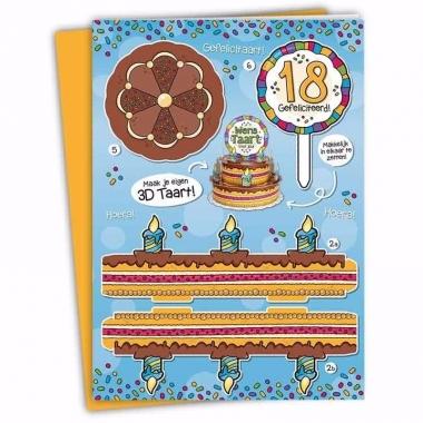 Verjaardag 18 jaar xxl taartkaart