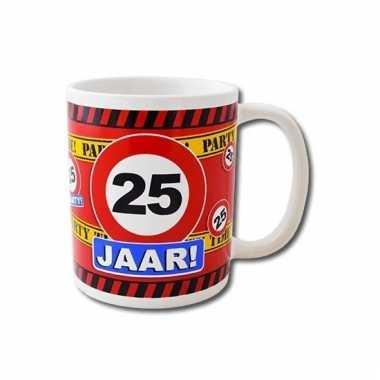 Verjaardag 25 jaar mok / beker 250 ml