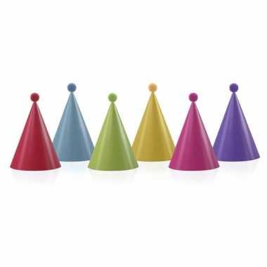 Verjaardag hoedjes met pompoms