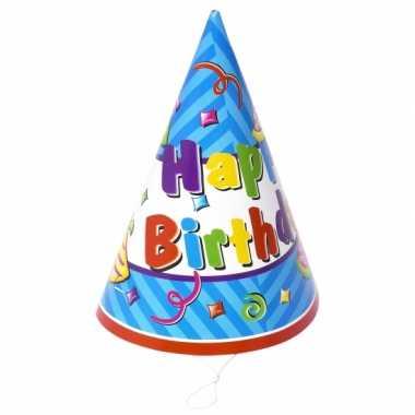 Verjaardag hoedjes van papier 12x