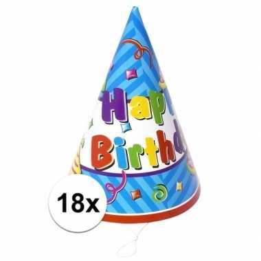Verjaardag hoedjes van papier 18x