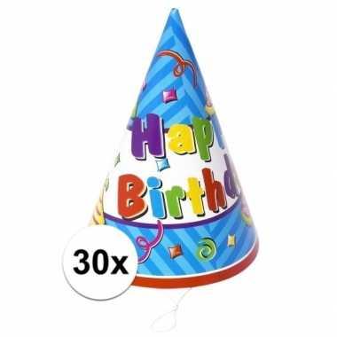 Verjaardag hoedjes van papier 30x