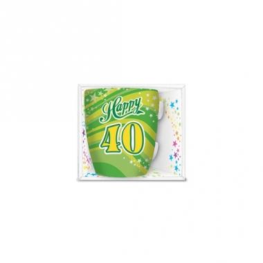 Verjaardag mok happy 40