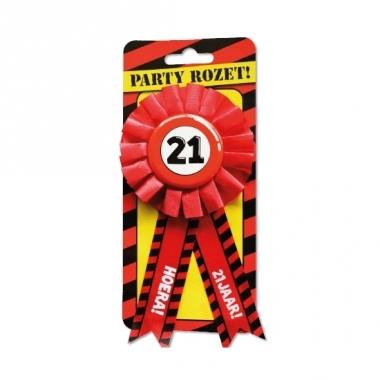 Verjaardag rozet 21 jaar