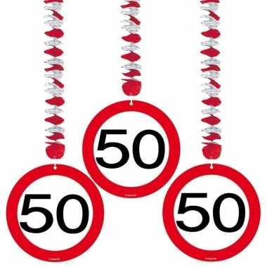 Verjaardag versiering 50 jaar 6 stuks