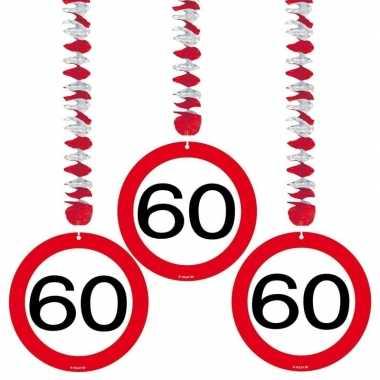 Verjaardag versiering 60 jaar 6 stuks