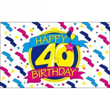 Verjaardag vlag 40 jaar