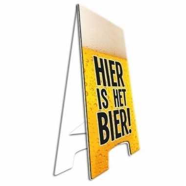 Verjaardagsfeest bord hier is het bier